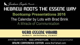 Yahweh's Calendar by Lots with Brad Brink