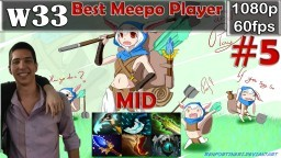 w33 - Best Meepo Player   Pro Gameplay Dota 2   Mid   MMR @60fps #5