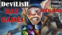 DEVILISH - Meepo Pro Gameplay   MID RAT GAME   MMR [Dota 2 Pro] @60fps - YouTube