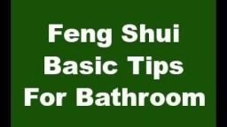 Feng Shui Basic Tips For Bathroom